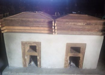 Completed Ahotor kiln inside a community banda