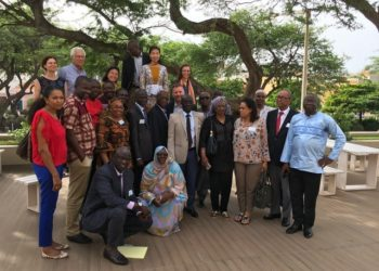 Photo 3 - End of meeting with directors of fisheries 9 countries WB team and CSRP