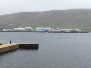 Main fish harbour in Scalloway