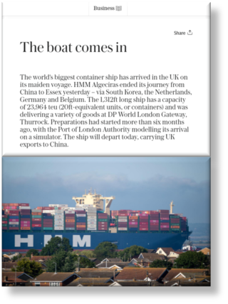 Daily Telegraph Article - DP World LGW