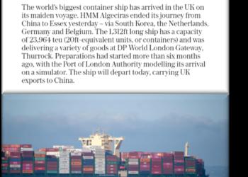 Daily Telegraph Article - DP World LGW