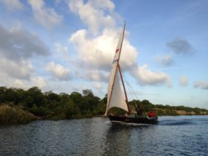 Traditional Sailing Ship in Lamu