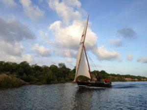 Traditional Sailing Ship in Lamu