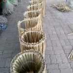 Locally made bamboo octopus traps